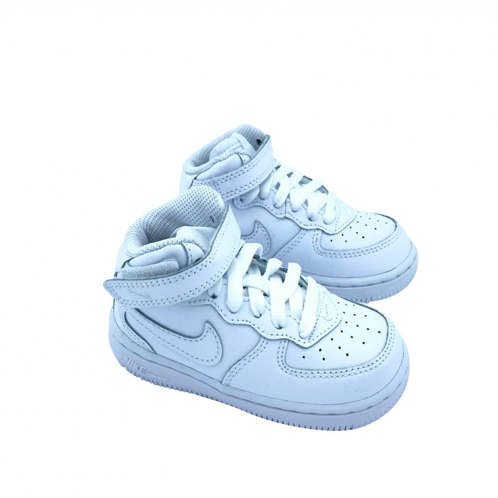 NIKE AIR FORCE 1 MID KIDS 314197 113 WHITE ( DAL 19 AL 27 )