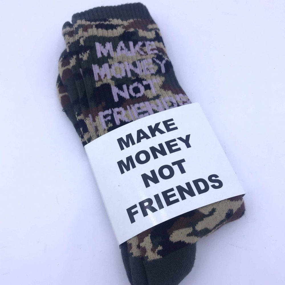 MAKE MONEY NOT FRIENDS SOCK CAMOUFLAGE