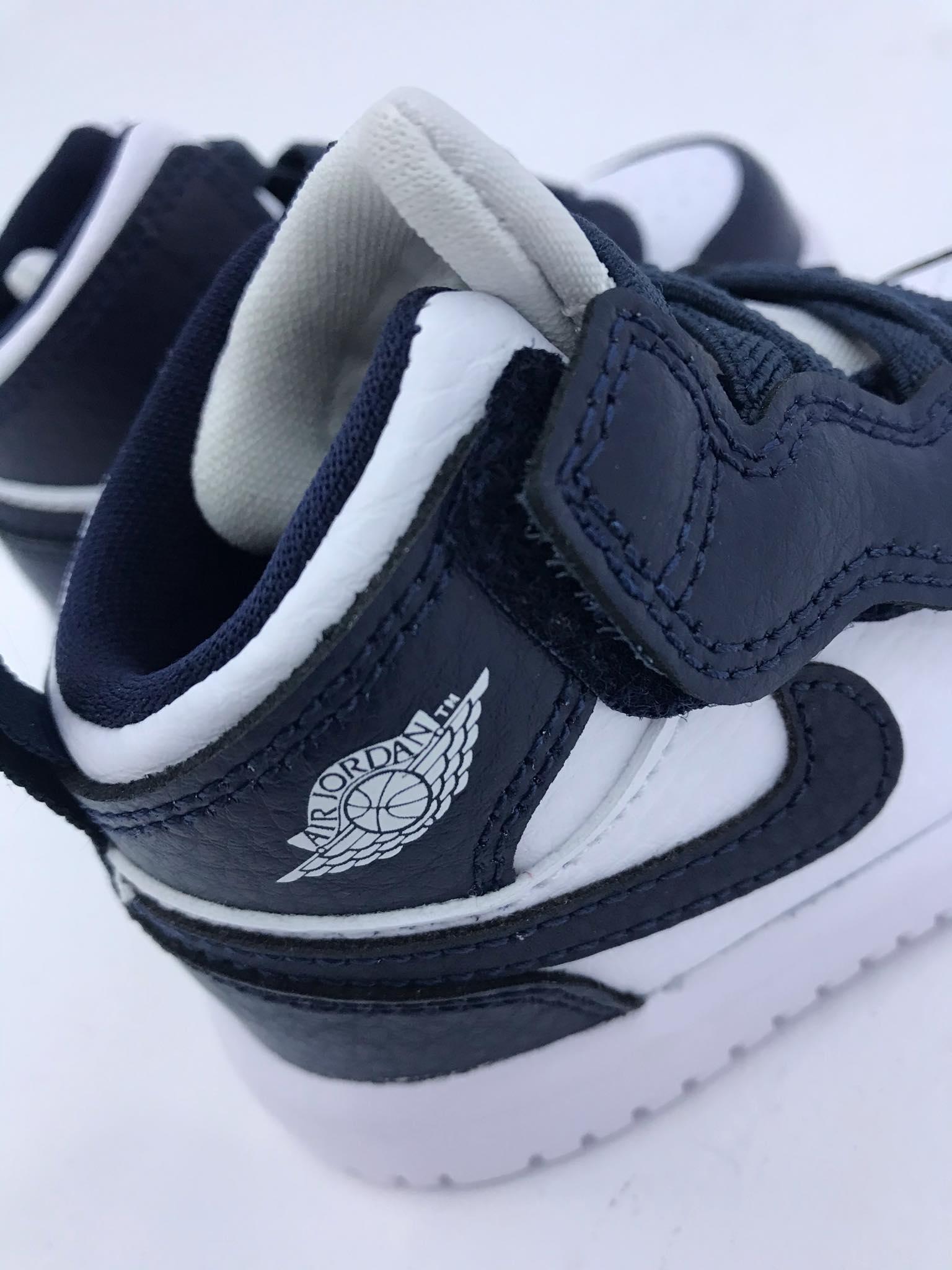 JORDAN 1 mid alt baby bambini bambino bianco blu
