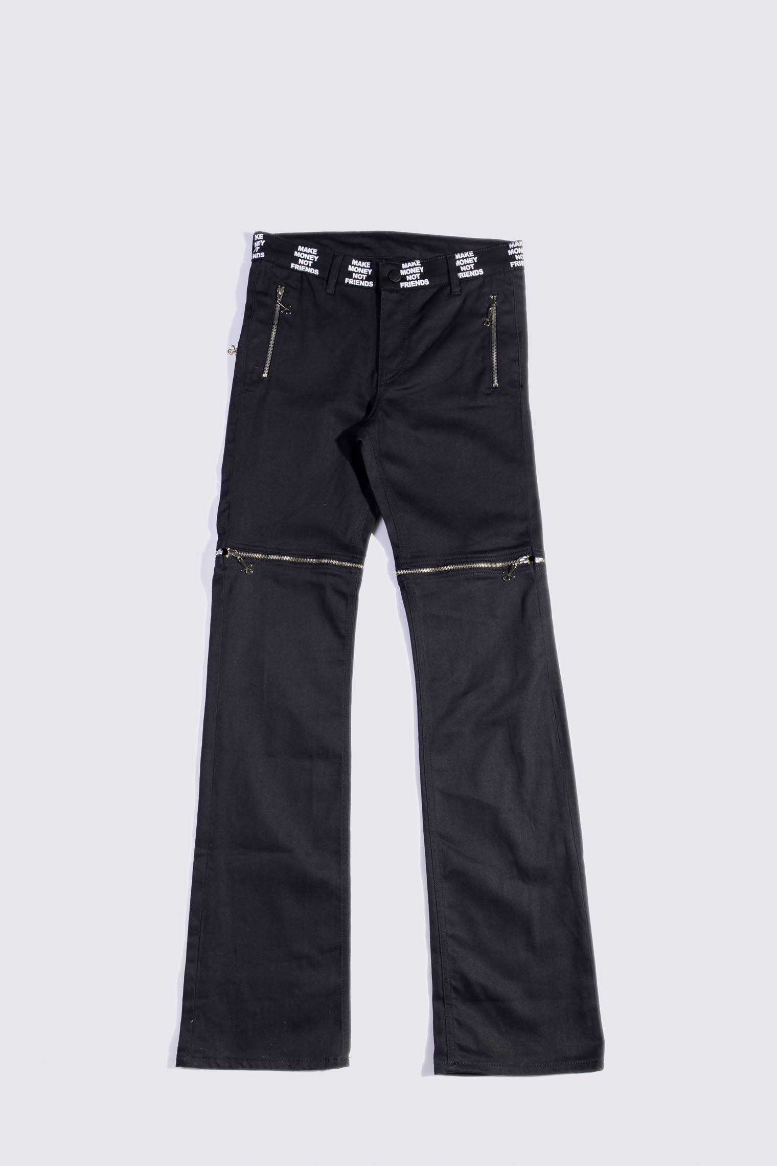 MAKE MONEY NOT FRIENDS PANTALONE ZIP NERO/NERO AE5