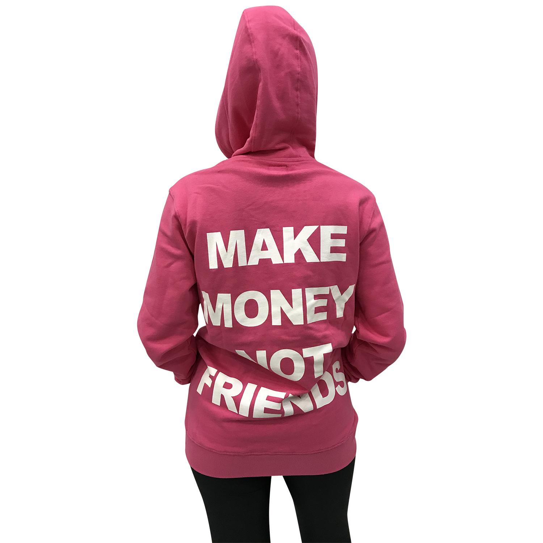 MAKE MONEY NOT FRIENDS FELPA ROSA MU171060