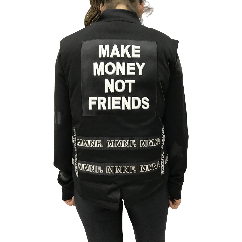 MAKE MONEY NOT FRIENDS SMANICATO NERO MU171111