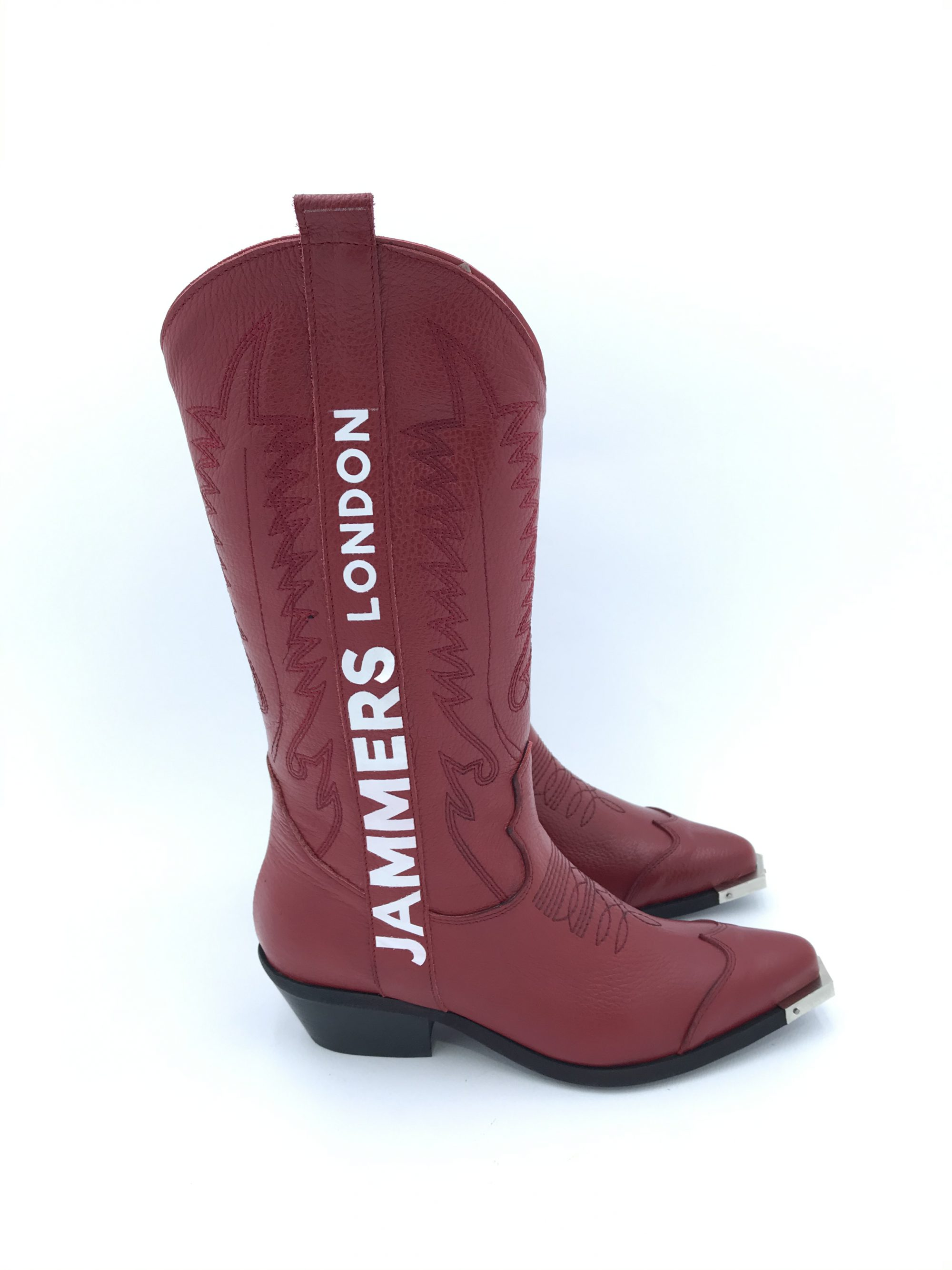 JAMMERS CAMPEROS ALTO OLDWEST OFF PELLE ROSSO