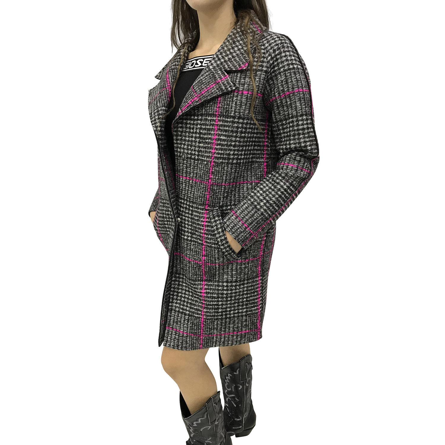 FILLE DES FLEURS THERON FABRIC CAPPOTTO ROSE