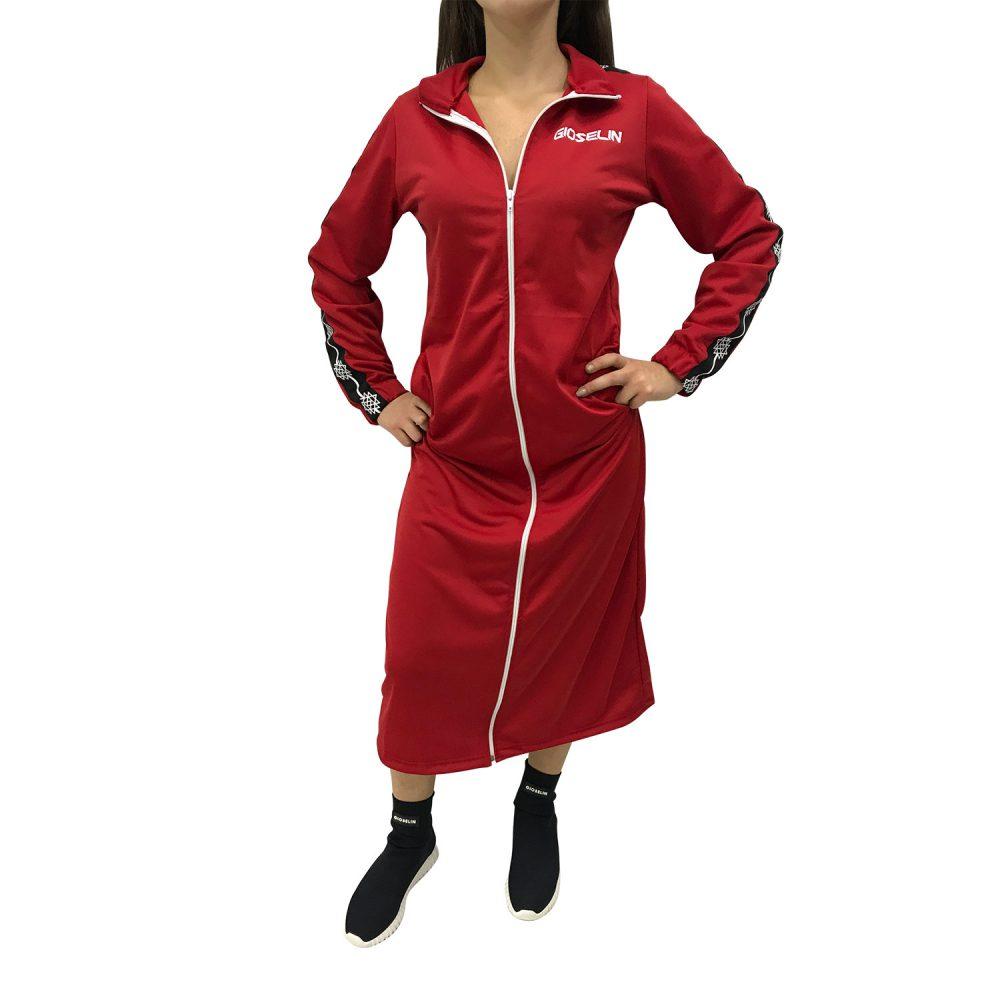 gioselin vestito rosso zip