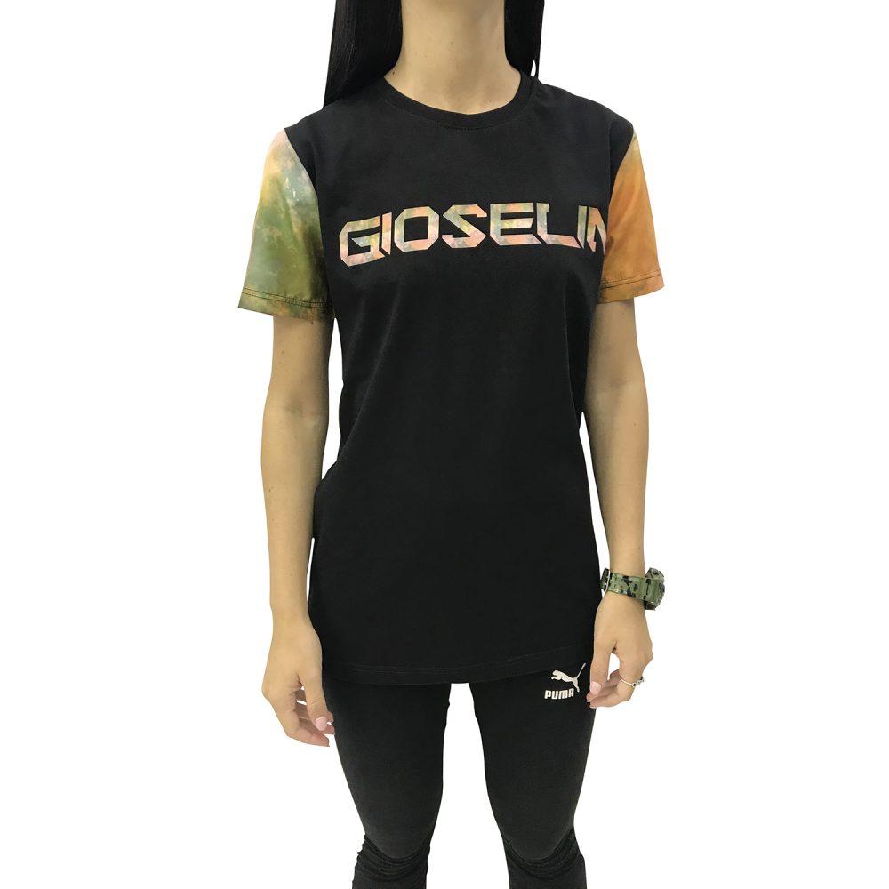 GIOSELIN T-SHIRT NERO/MULTI