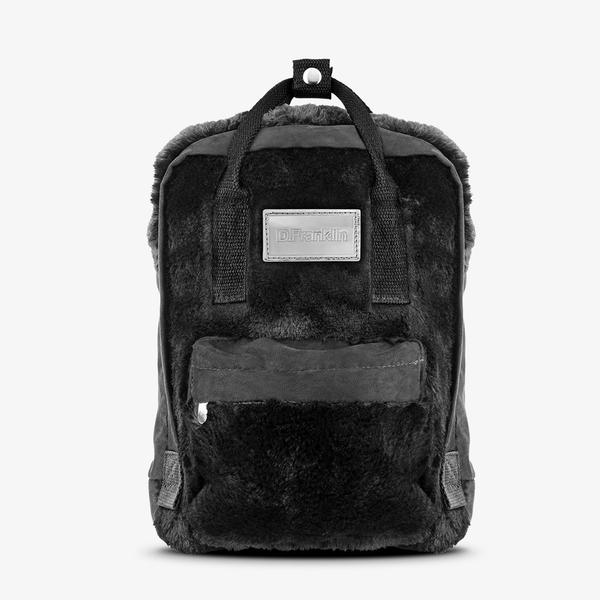 D.FRANKLIN ABBY BACKPACK FUR BLACK / BLACK