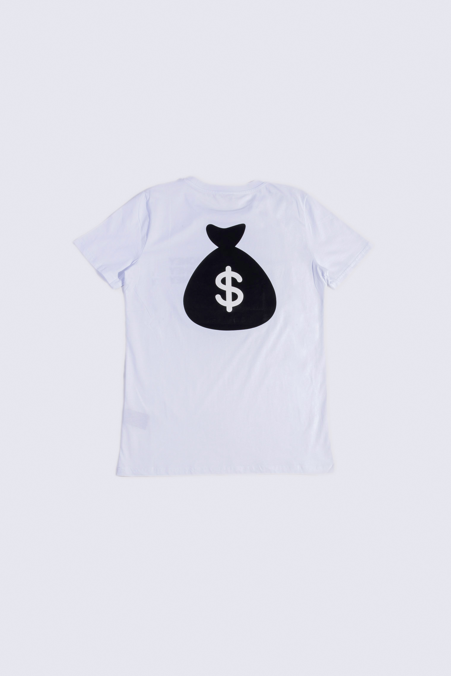 MAKE MONEY NOT FRIENDS T-SHIRT MONEY BIANCO MU171127