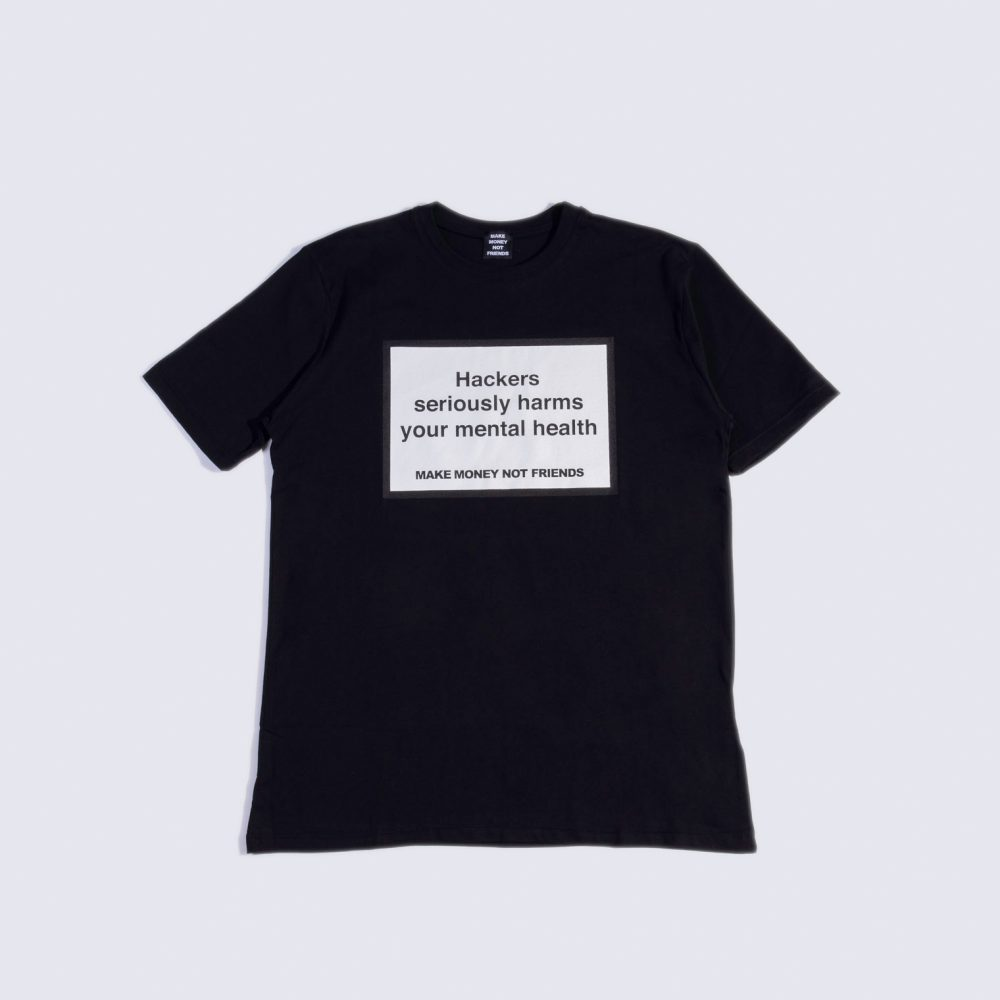 MAKE MONEY NOT FRIENDS T-SHIRT HACKERS NERO MU171156