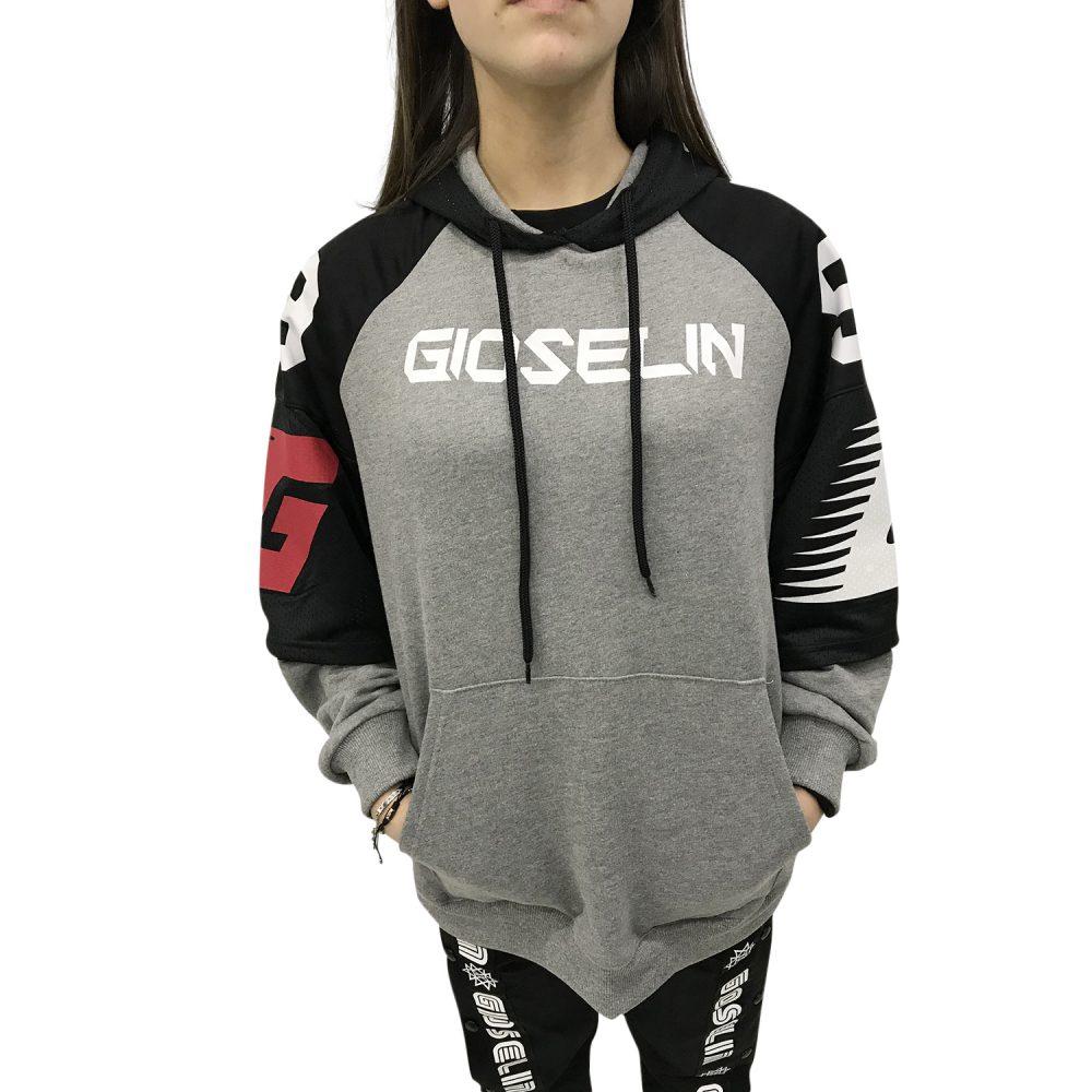 GIOSELIN FELPA GSL82 GRIGIO/NERO