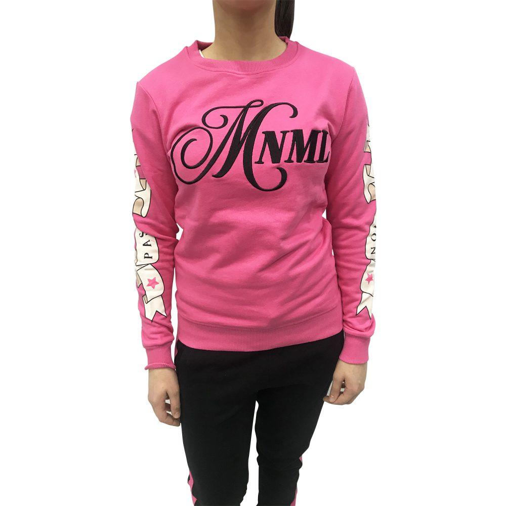 MNML FELPA MINIMAL PASSION ROSA D1721