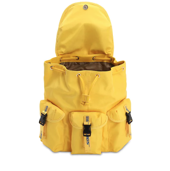THE BAGS ZAINO IN NYLON GIALLO
