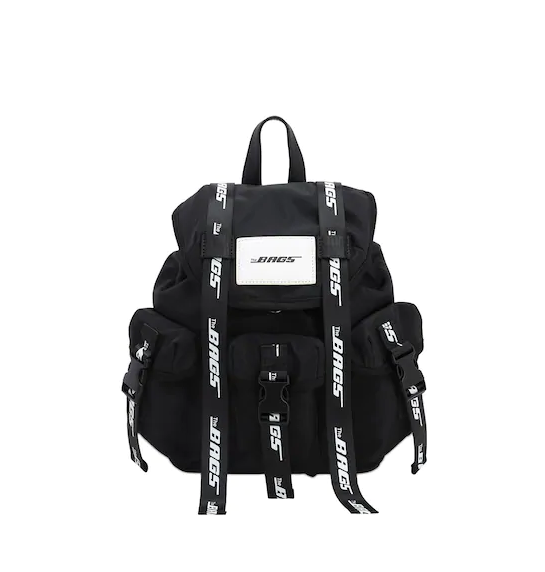 THE BAGS ZAINO IN NYLON NERO PICCOLO