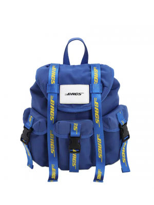 THE BAGS ZAINO IN NYLON BLU PICCOLO