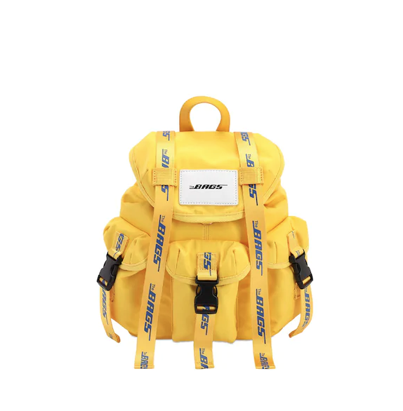 THE BAGS ZAINO IN NYLON GIALLO PICCOLO