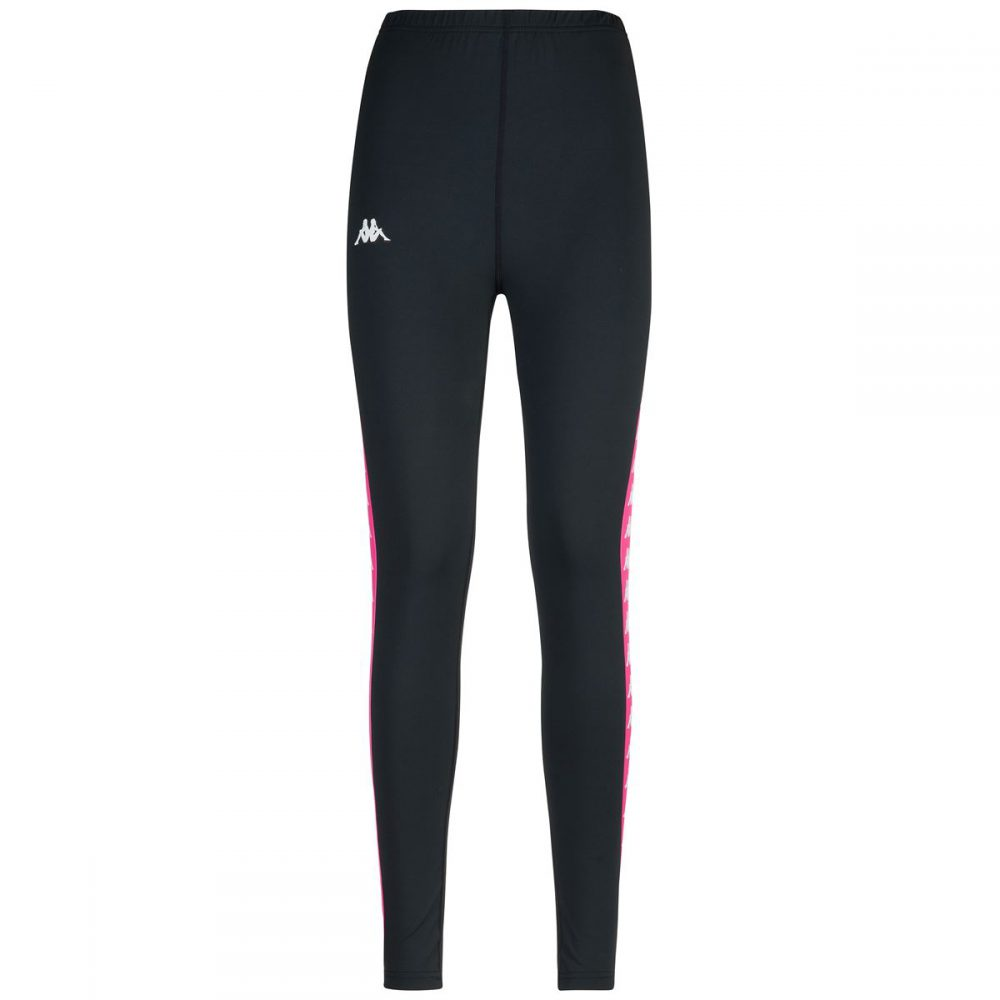 KAPPA LEGGINGS NERO/FUXIA 303WCI0