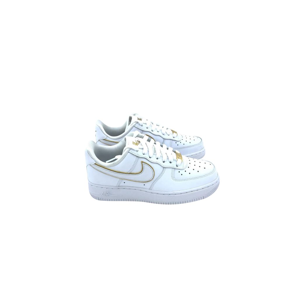 NIKE AIR FORCE 1'07 ESS AO2132 102 BIANCO ORO