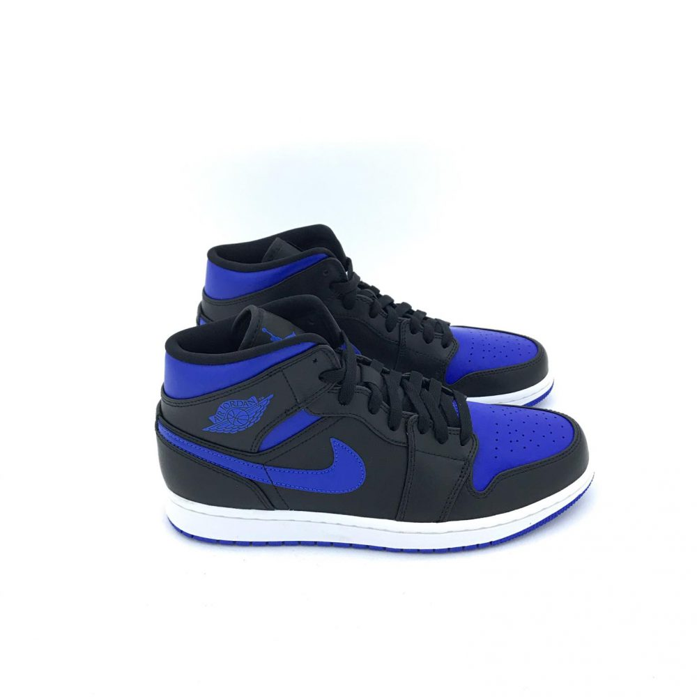 NIKE AIR JORDAN 1 MID ROYAL 554724 068 NERO/BLU
