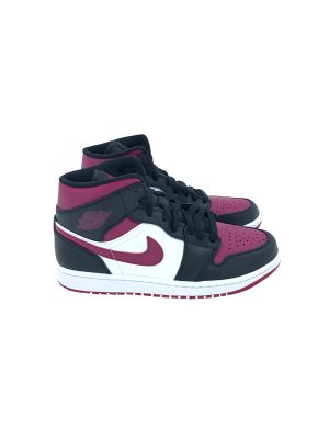 NIKE AIR JORDAN 1 MID BORDEAUX/BIANCO