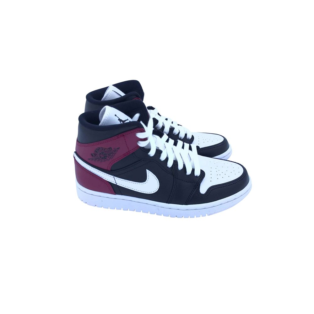 NIKE AIR JORDAN 1 MID BQ6472 016 - BLACK NOBLE RED