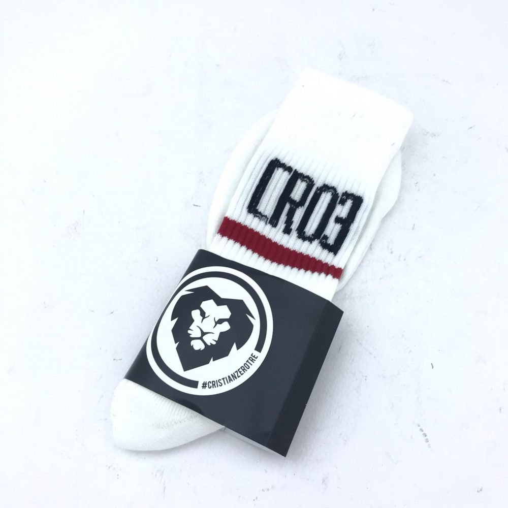 CR03 SOCK BIANCO/ROSSO