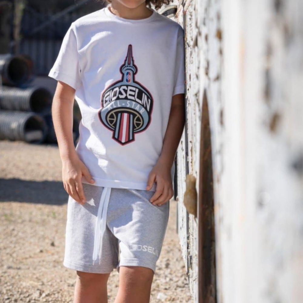 GIOSELIN T-SHIRT BIANCA STAMPA ALL STAR BABY