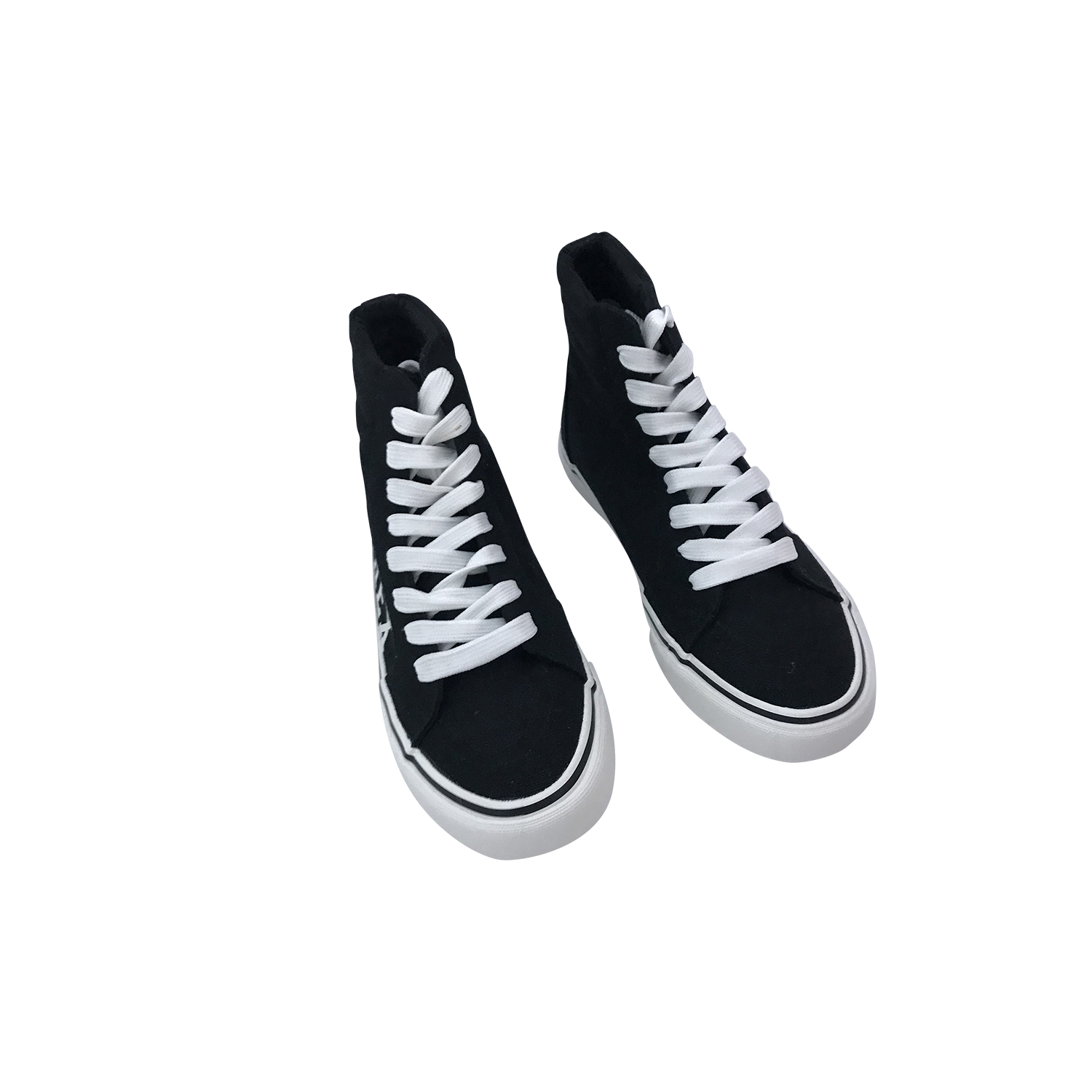 PYREX SNEAKERS ALTA IN TELA NERO