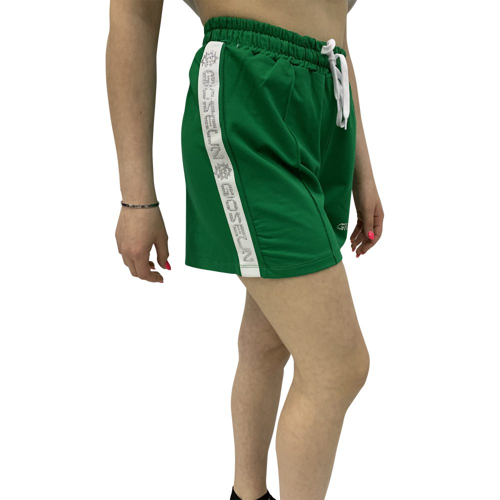 GIOSELIN SHORTS STRASS VERDE BABY