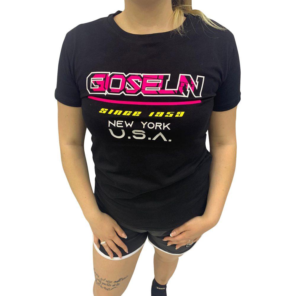 GIOSELIN T-SHIRT USA NERO
