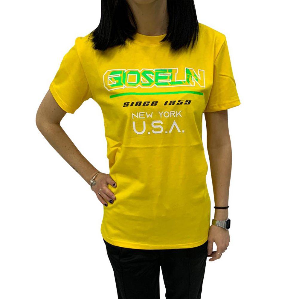 GIOSELIN T-SHIRT USA GIALLO