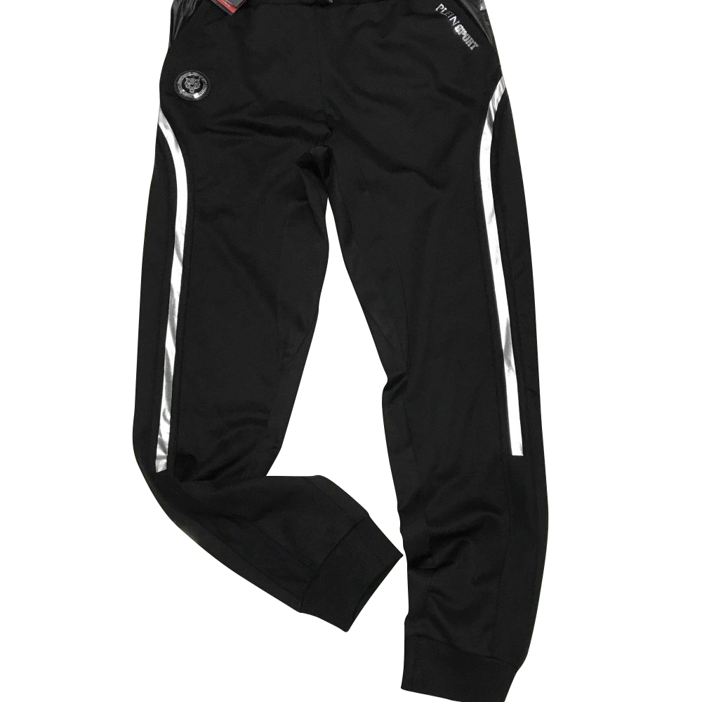 "PLEIN SPORT F18C MJT0718 JOGGING TROUSERS ""BLACK VERSION"""