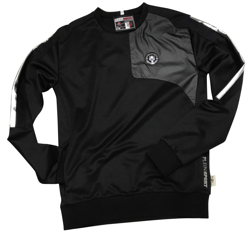 "PLEIN SPORT MJO0430 SWEATSHIRT LS ""BLACK VERSION"""