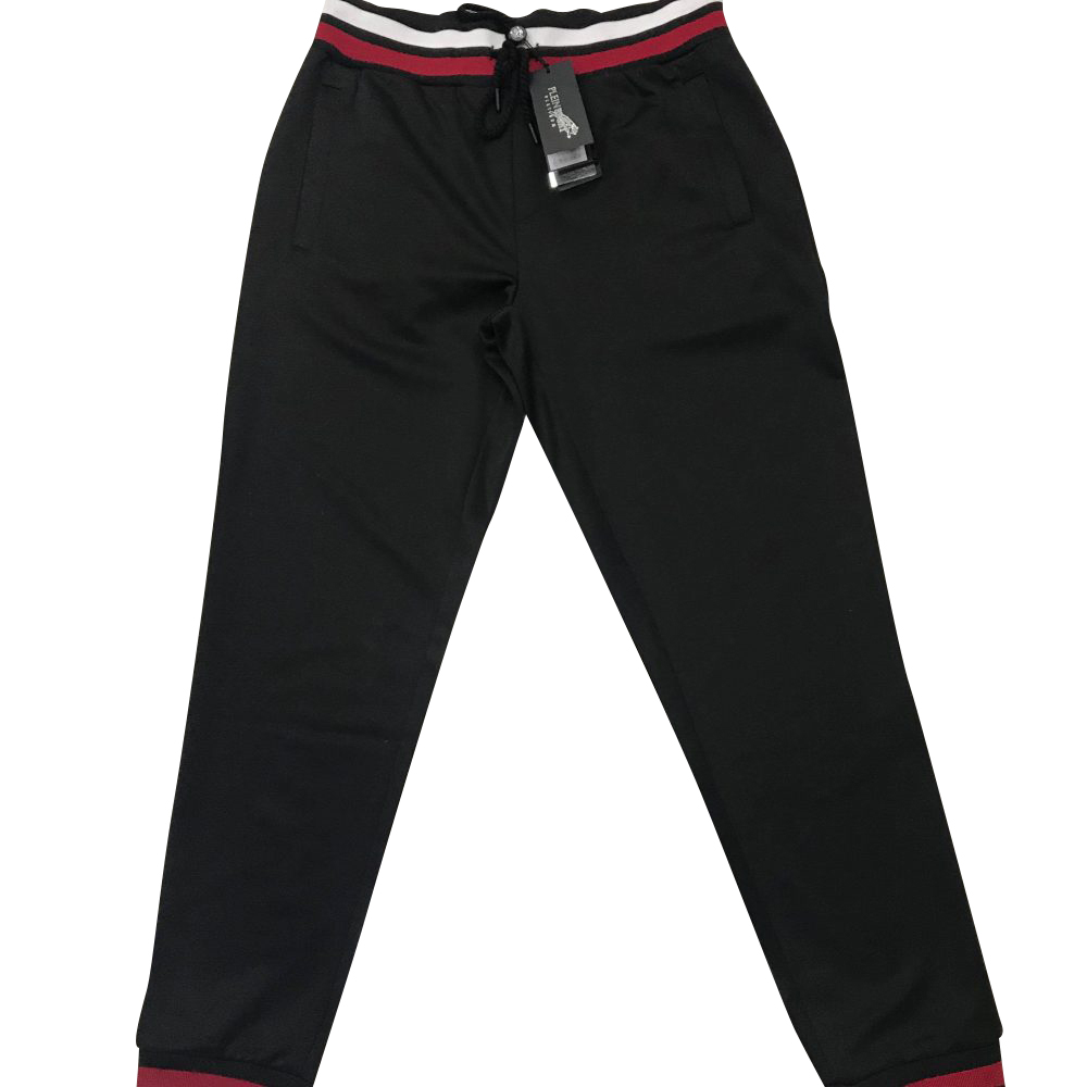 "PLEIN SPORT P18C MJT0465 JOGGING TROUSERS ""DOMINIC"" BLACK"