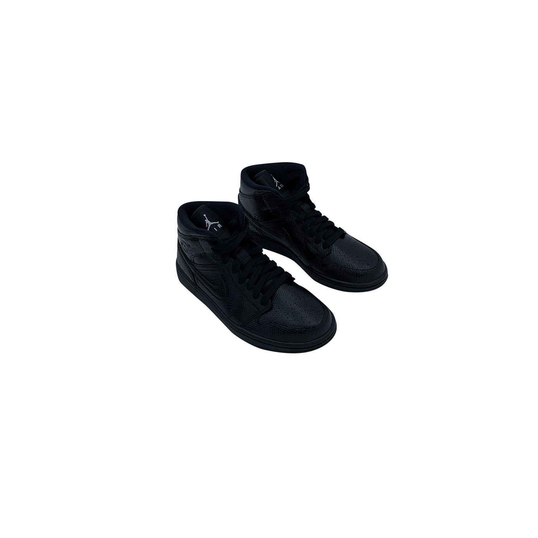 NIKE AIR JORDAN 1 MID BLACK LEATHER BQ6472 010