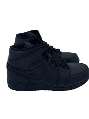 NIKE AIR JORDAN 1 MID TRIPLE BLACK 554724 091