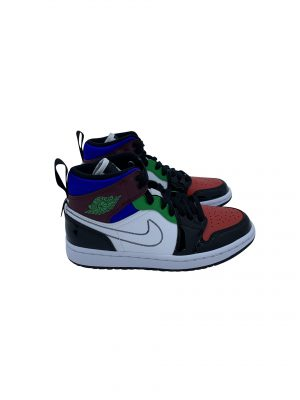 NIKE AIR JORDAN 1 MID SE BLACK WHITE MULTI-COLOR DB5454 001