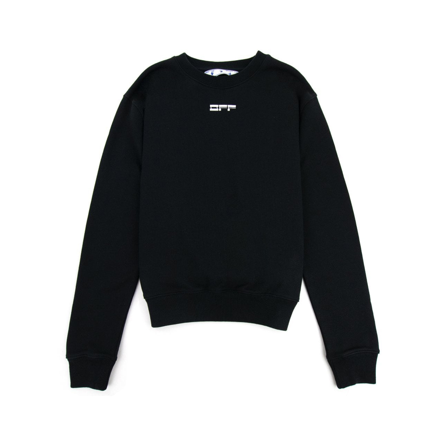 OFF WHITE FELPA MASKED FACE SWEATSHIRT