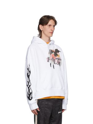 PALM ANGELS FELPA FLAME EAGLE HOODY
