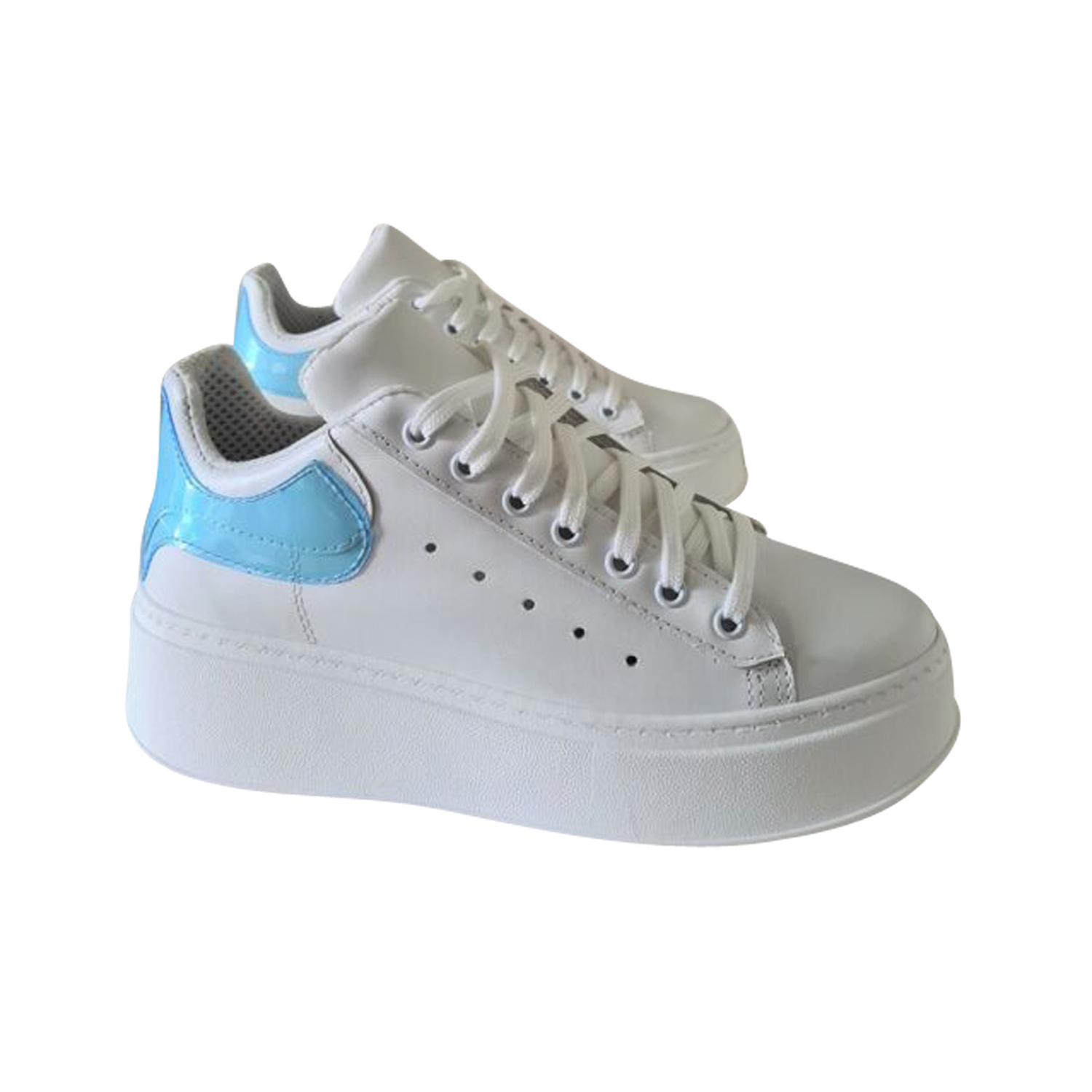 JAMMERS LONDON SNEAKERS TOTAL BIANCO/CELESTE