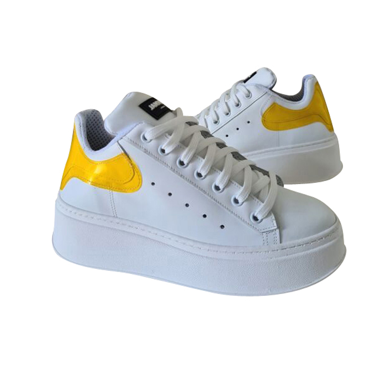 JAMMERS LONDON SNEAKERS TOTAL BIANCO/GIALLO