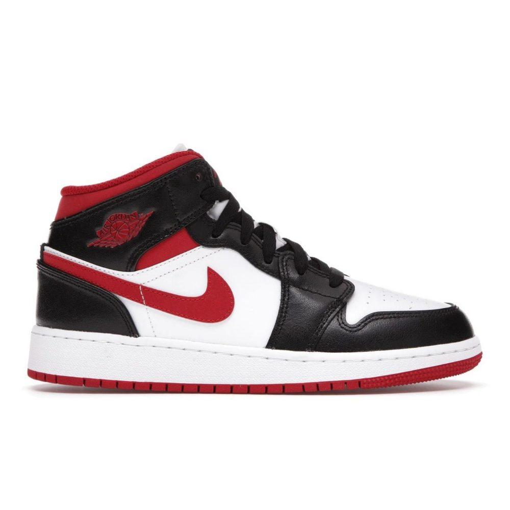 JORDAN 1 MID GYM RED BLACK WHITE (GS) DJ4695 122