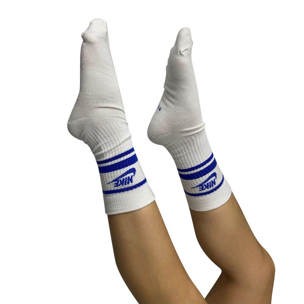 NIKE CALZINO CQ0301 105 WHITE/BLUE