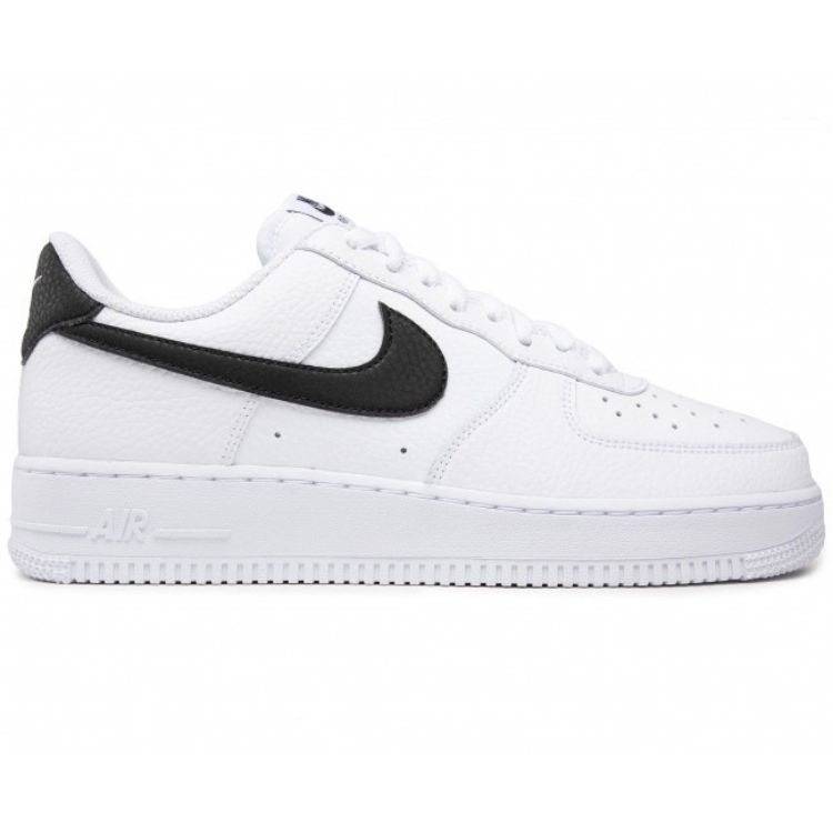 NIKE AIR FORCE 1 '07 WHITE BLACK PEBBLED LEATHER CT2302 100