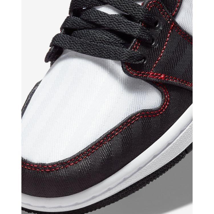 JORDAN 1 LOW UTILITY WHITE BLACK RED DD9337 106